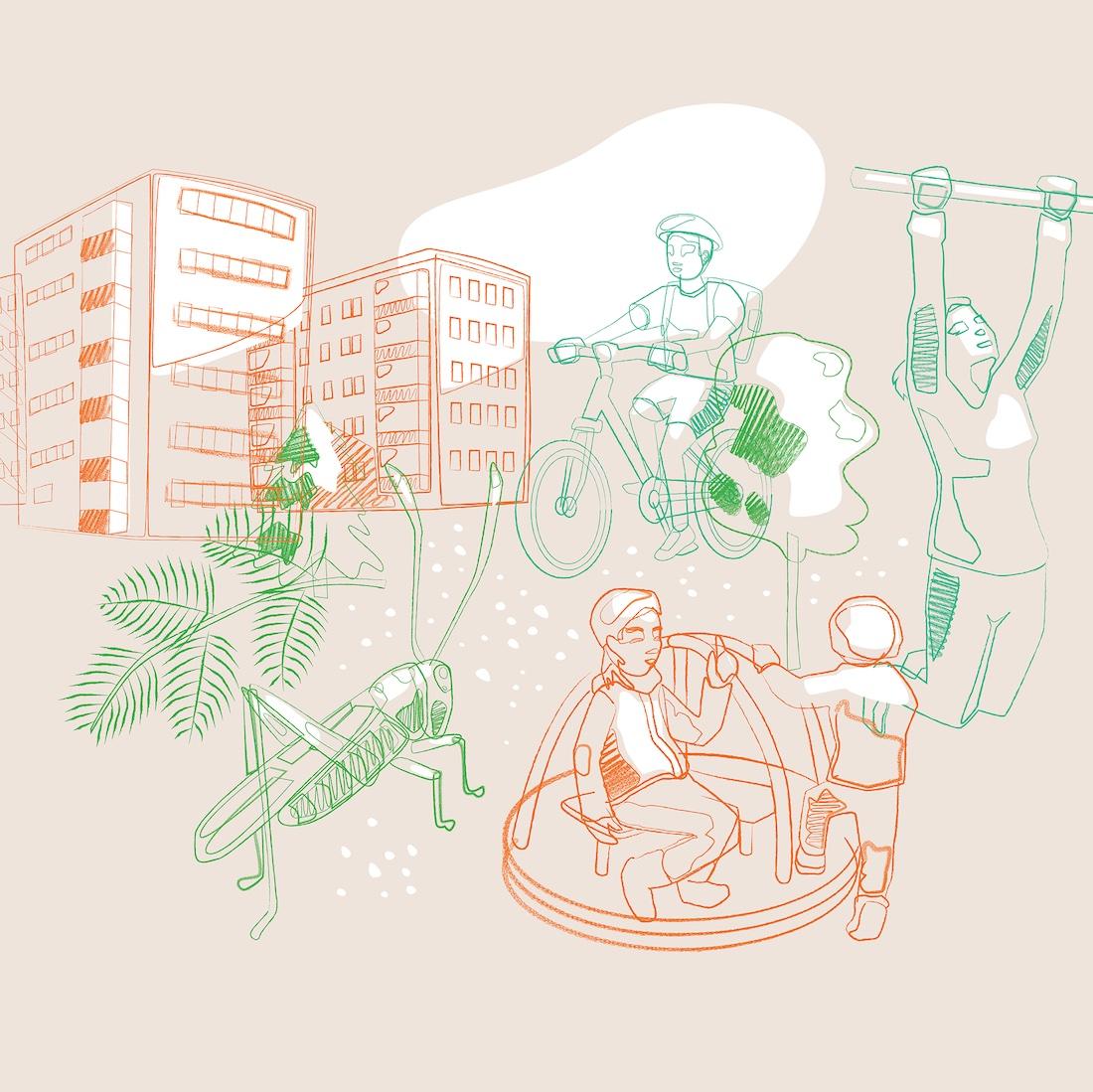 Helsus Co-creation Lab Illustration