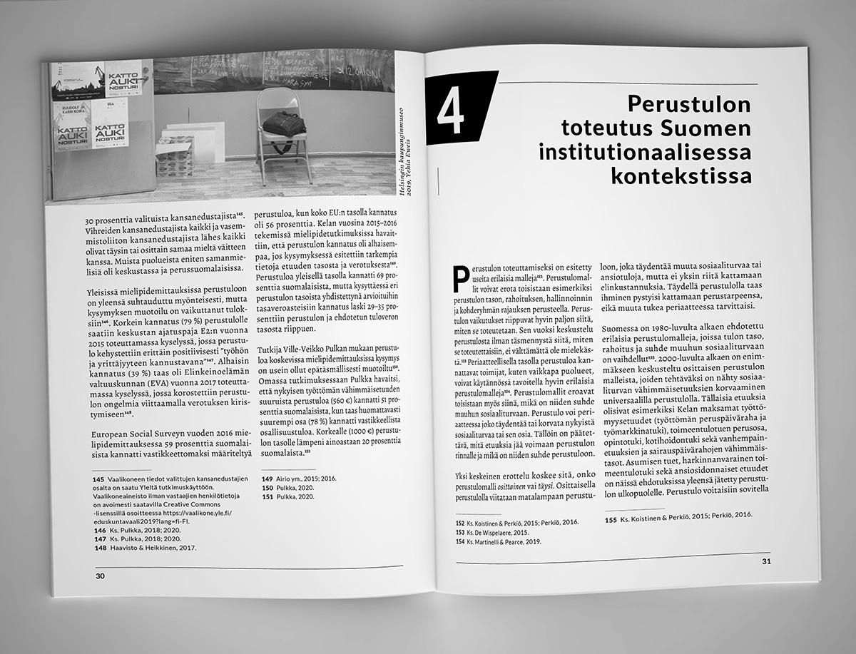 KSL-opintokeskus & Vasemmistofoorumi Layout Design - Perustulo
